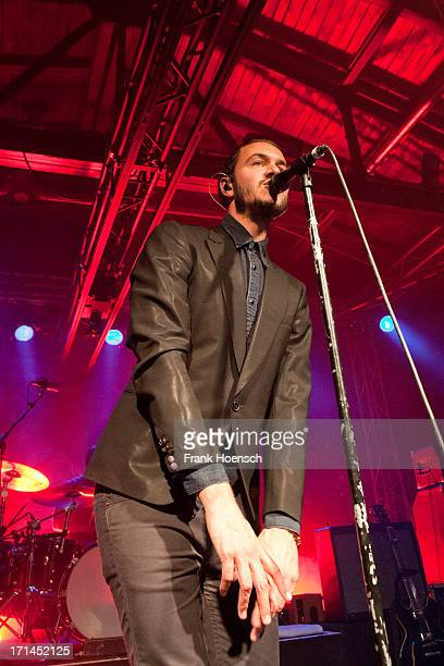Singer Tom Smith of Editors performs live during a concert at the Postbahnhof on June 24 2013 in Berlin Germany