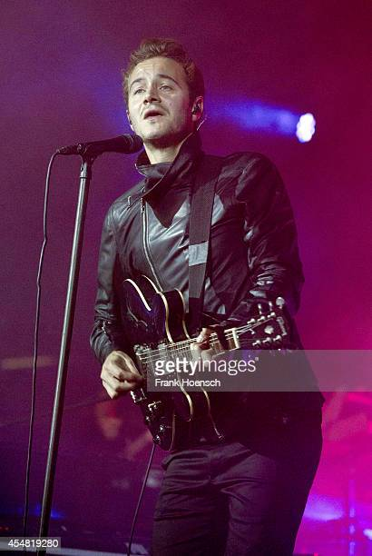 Singer Tom Smith of Editors performs live during Berlin Festival Day 02 at the Arena Treptow on September 6 2014 in Berlin Germany