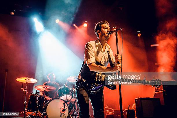Singer Tom Smith of the Editors performs live on stage during a concert at Columbiahalle on November 9 2015 in Berlin Germany