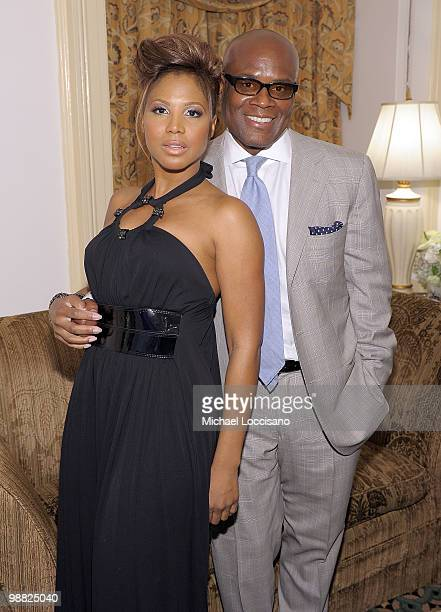Singer Toni Braxton and Antonio 'LA' Reid attend the New York Gala benefiting The Steve Harvey Foundation at Cipriani Wall Street on May 3 2010 in...