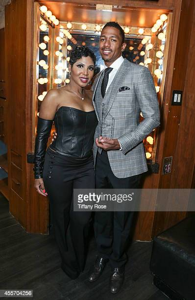 Singer Toni Braxton and TV personality Nick Cannon attend Get Lucky For Lupus LA on September 18 2014 in Beverly Hills California