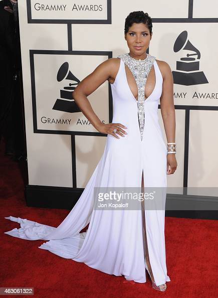 Singer Toni Braxton arrives at the 57th GRAMMY Awards at Staples Center on February 8 2015 in Los Angeles California