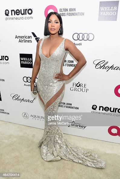 Singer Toni Braxton attends the 23rd Annual Elton John AIDS Foundation Academy Awards Viewing Party on February 22 2015 in Los Angeles California