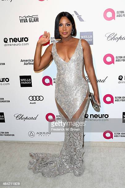Singer Toni Braxton attends the 23rd Annual Elton John AIDS Foundation's Oscar Viewing Party on February 22 2015 in West Hollywood California