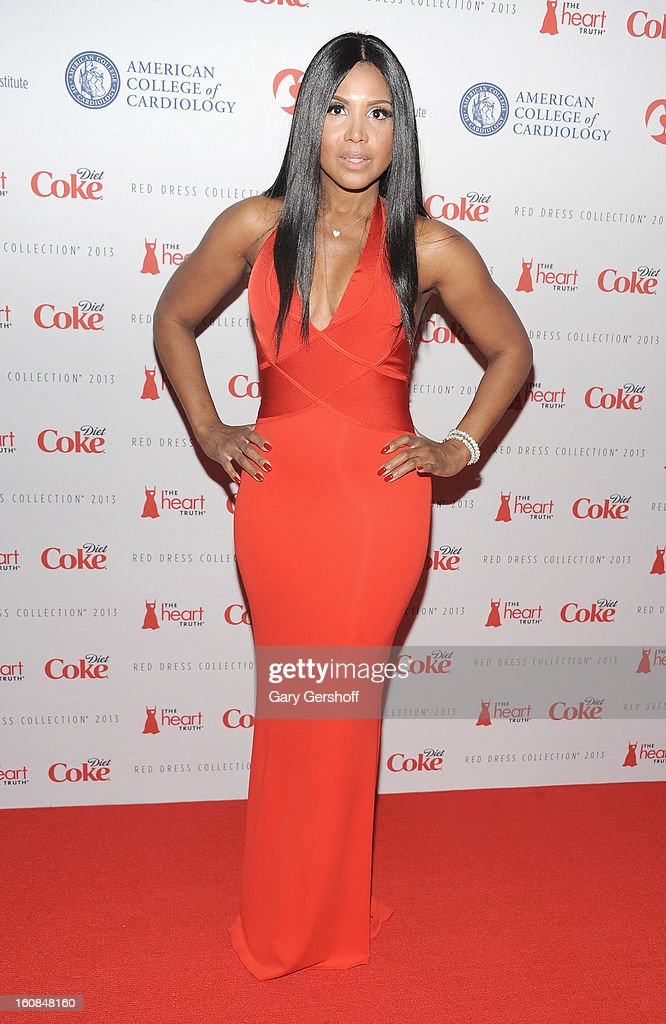 Singer <a gi-track='captionPersonalityLinkClicked' href=/galleries/search?phrase=Toni+Braxton&family=editorial&specificpeople=213737 ng-click='$event.stopPropagation()'>Toni Braxton</a> attends The Heart Truth's Red Dress Collection during Fall 2013 Mercedes-Benz Fashion Week at Hammerstein Ballroom on February 6, 2013 in New York City.