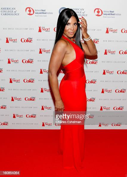 Singer Toni Braxton attends The Heart Truth's Red Dress Collection Fall 2013 MercedesBenz Fashion Show at 499 Seventh Avenue on February 6 2013 in...