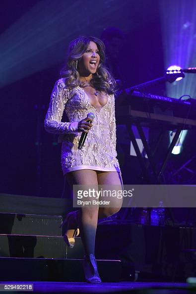 Singer Toni Braxton performs at GRAMMY Park Artist Spotlight Toni Braxton with Andra Day at Kings Theatre on May 8 2016 in Brooklyn New York