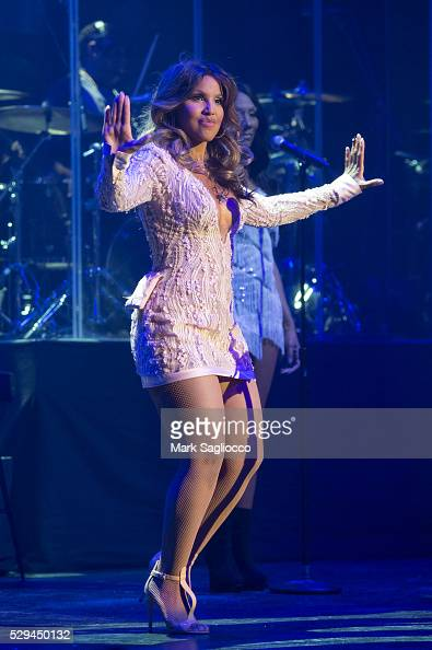 Singer Toni Braxton performs at the Artist Spotlight Toni Braxton With Andra Day at the Kings Theatre on May 8 2016 in the Brooklyn borough of New...