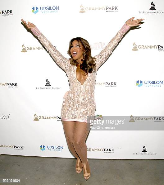 Singer Toni Braxton poses backstage at the GRAMMY Park Artist Spotlight Toni Braxton With Andra Day on May 08 2016 in Brooklyn New York