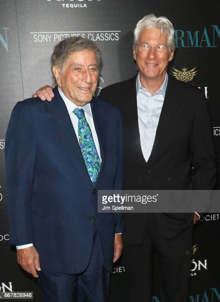 Singer Tony Bennett and actor Richard Gere attend the screening of Sony Pictures Classics' 'Norman' hosted by The Cinema Society with NARS AVION at...