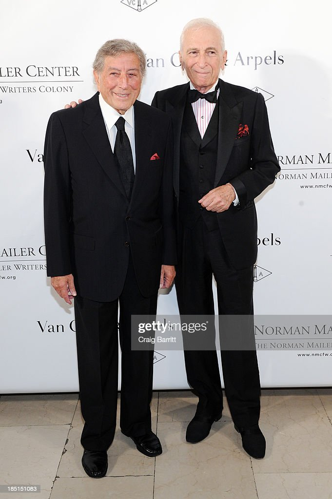 Singer Tony Bennett (L) and author Gay Talese attend the Norman Mailer Center's fifth annual benefit gala at the New York Public Library on October 17, 2013 in New York City.