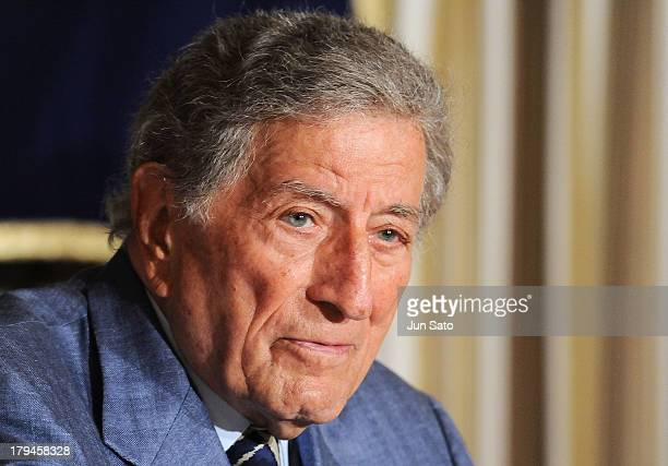Singer Tony Bennett attends a press conference at The Foreign Correspondents' Club on September 4 2013 in Tokyo Japan