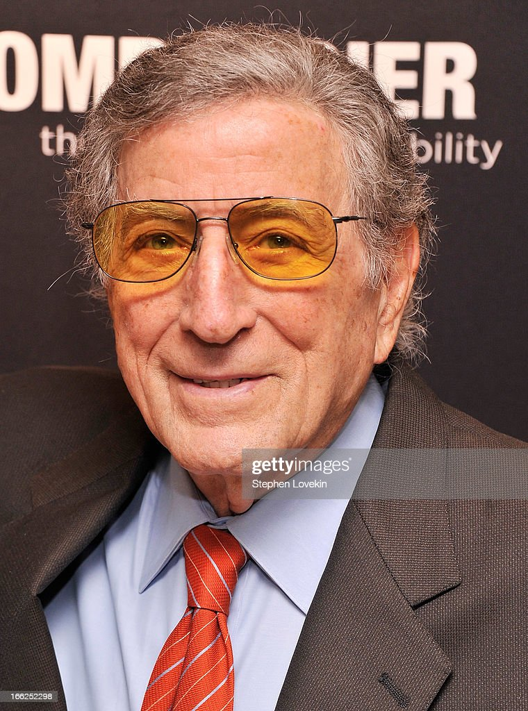 Singer <a gi-track='captionPersonalityLinkClicked' href=/galleries/search?phrase=Tony+Bennett+-+Singer&family=editorial&specificpeople=160951 ng-click='$event.stopPropagation()'>Tony Bennett</a> attends The Hollywood Reporters 35 Most Powerful People In Media at Four Seasons Grill Room on April 10, 2013 in New York City.