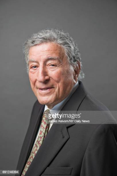 Singer Tony Bennett photographed at his art studio in New York for the NY Daily News on July 20 2015
