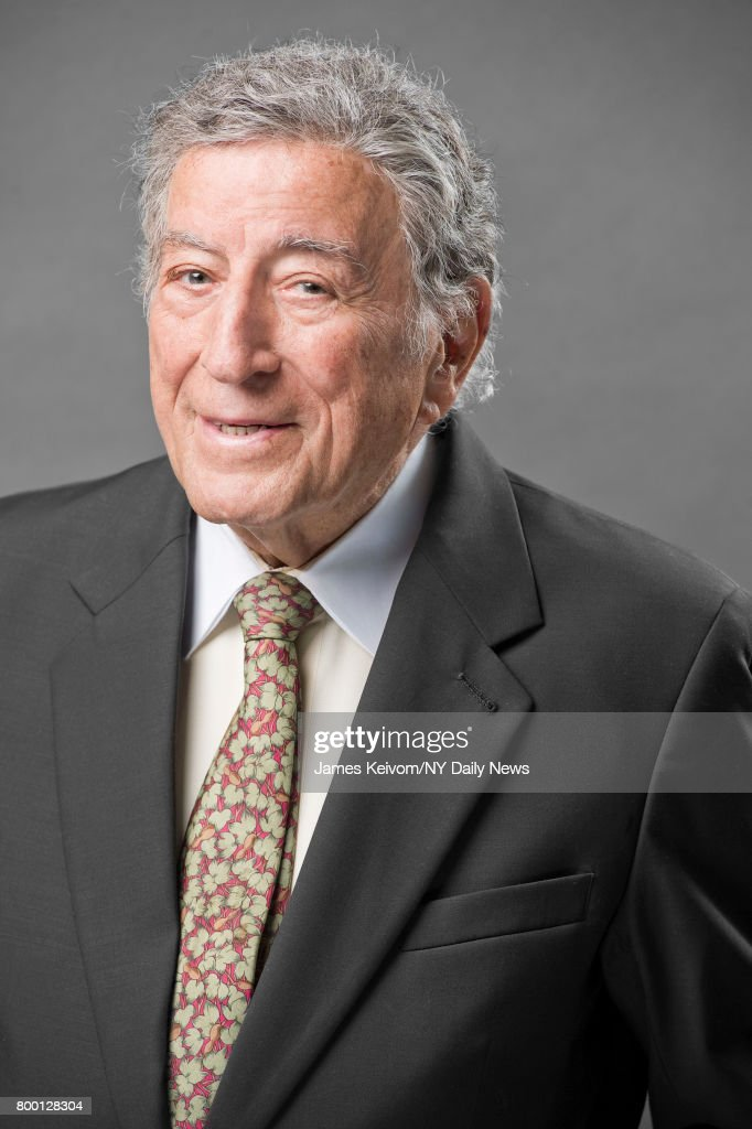 Singer Tony Bennett photographed at his art studio in New York for the NY Daily News on July 20, 2015.