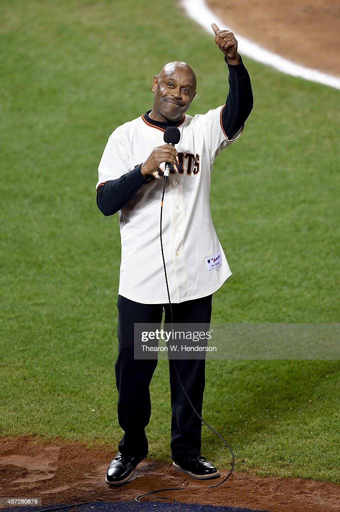 Singer <a gi-track='captionPersonalityLinkClicked' href=/galleries/search?phrase=Tony+Lindsay&family=editorial&specificpeople=3435613 ng-click='$event.stopPropagation()'>Tony Lindsay</a> performs during the seventh inning as the San Francisco Giants take on the St. Louis Cardinals during Game Four of the National League Championship Series at AT&T Park on October 15, 2014 in San Francisco, California.