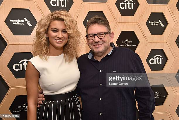 Singer Tori Kelly and CBE Chairman CEO UMG Lucian Grainge attend Lucian Grainge's 2016 Artist Showcase Presented by American Airlines and Citi at The...