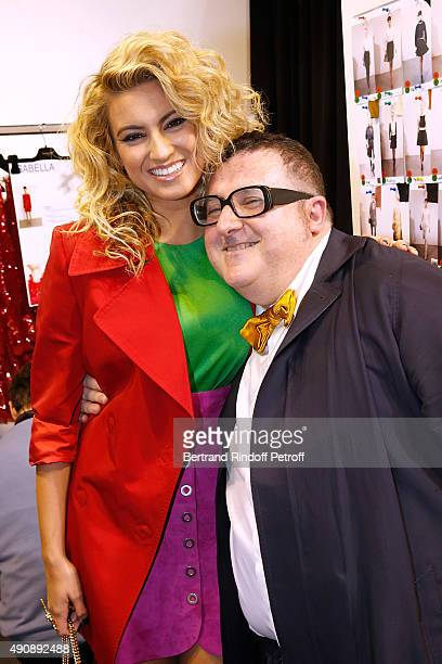 Singer Tori Kelly and Fashion Designer Alber Elbaz pose Backstage before the Lanvin show as part of the Paris Fashion Week Womenswear Spring/Summer...