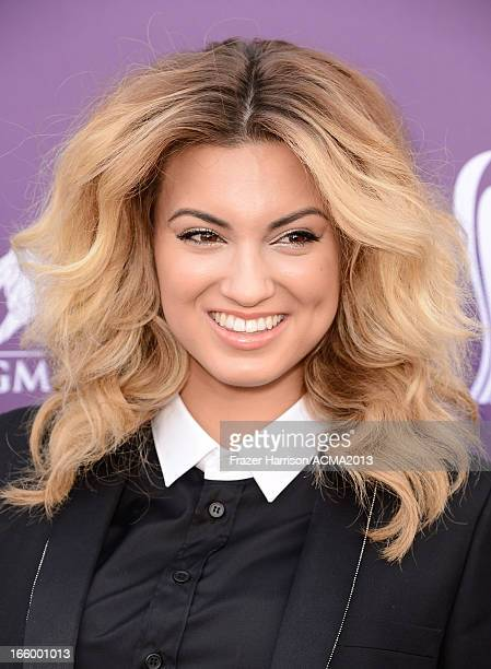 Singer Tori Kelly arrives at the 48th Annual Academy of Country Music Awards at the MGM Grand Garden Arena on April 7 2013 in Las Vegas Nevada