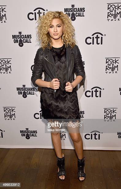 Singer Tori Kelly attends Musicians On Call Rock The Room Tour at Greystone Manor on December 1 2015 in West Hollywood California Musicians On Call...
