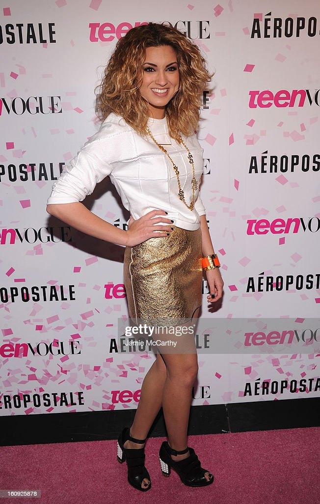 Singer Tori Kelly attends the 10th Anniversary of Teen Vogue and Aeropostale's Celebration of Chloe Grace Moretz's Sweet 16 at Aeropostale Times Square on February 7, 2013 in New York City.