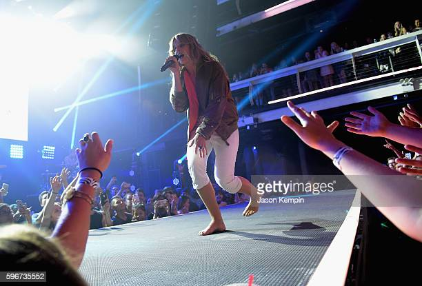 Singer Tove Lo performs onstage at the MTV Pre VMA concert hosted by Taco Bell at Terminal 5 on August 27 2016 in New York City