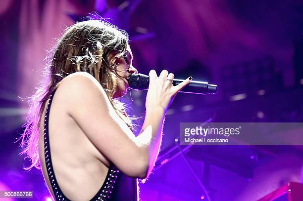 Singer Tove Lo performs onstage during KISS 108's Jingle Ball 2015 presented by Capital One at TD Garden on December 10 2015 in Boston Mass