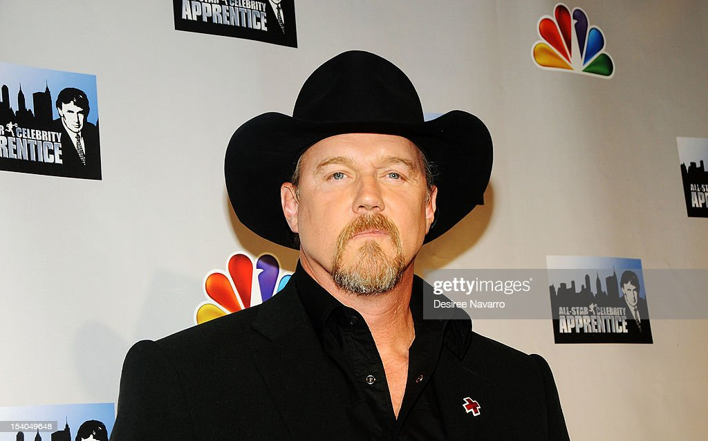 Singer <a gi-track='captionPersonalityLinkClicked' href=/galleries/search?phrase=Trace+Adkins&family=editorial&specificpeople=224686 ng-click='$event.stopPropagation()'>Trace Adkins</a> attends the 'Celebrity Apprentice All Stars' Season 13 Press Conference at Jack Studios on October 12, 2012 in New York City.