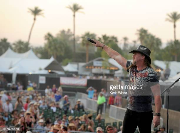 Singer Trace Adkins performs at day 1 of the 2013 Stagecoach California's Country Music Festival at The Empire Polo Club on April 26 2013 in Indio...