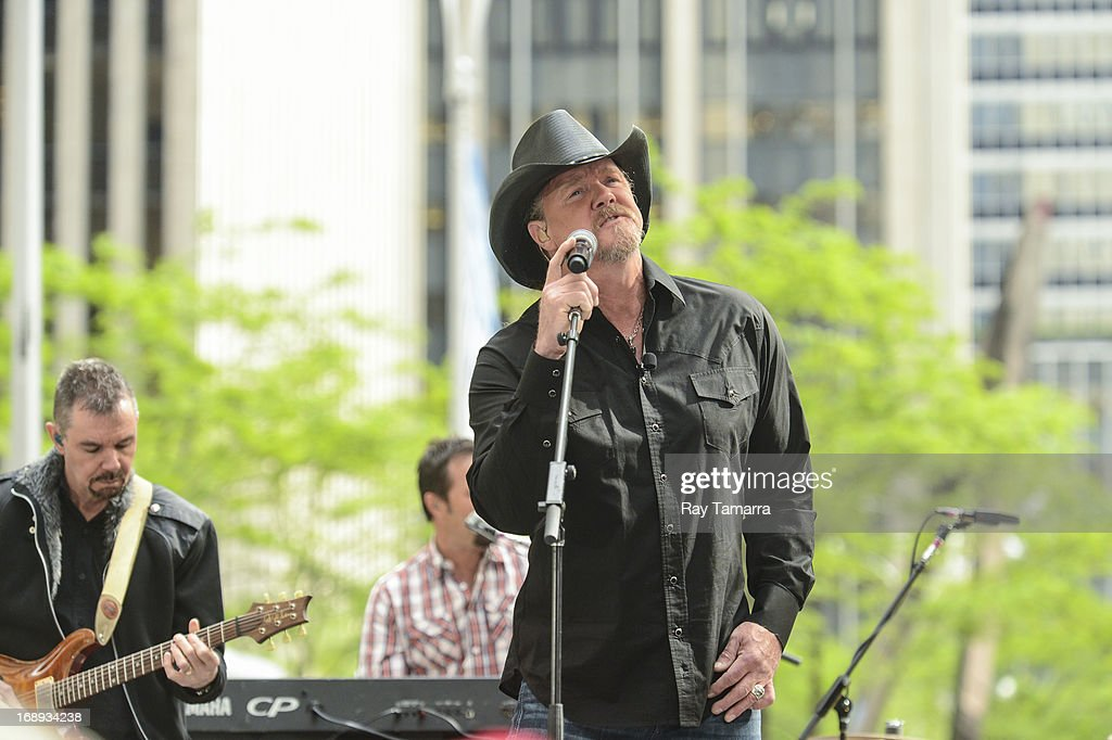 Singer <a gi-track='captionPersonalityLinkClicked' href=/galleries/search?phrase=Trace+Adkins&family=editorial&specificpeople=224686 ng-click='$event.stopPropagation()'>Trace Adkins</a> performs at 'FOX & Friends' at the FOX Studios on May 17, 2013 in New York City.