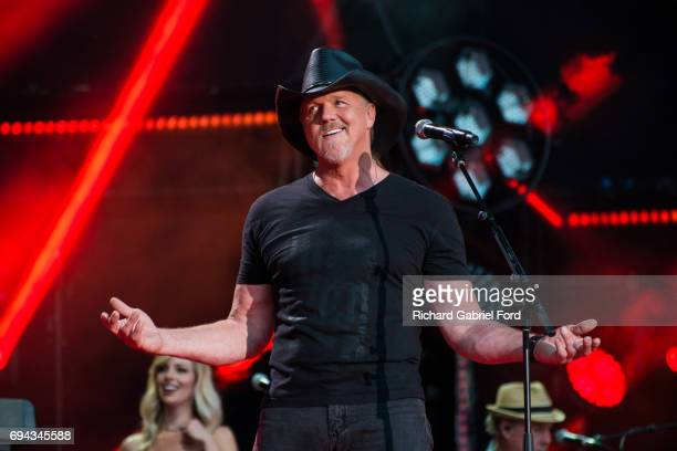 Singer Trace Adkins performs at Nissan Stadium during day 1 of the 2017 CMA Music Festival on June 8 2017 in Nashville Tennessee