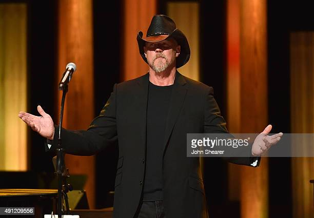 Singer Trace Adkins performs at the Grand Ole Opry 90th Birthday Bash on October 3 2015 in Nashville Tennessee