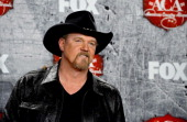 Singer Trace Adkins poses in the press room during the 2012 American Country Awards at the Mandalay Bay Events Center on December 10 2012 in Las...