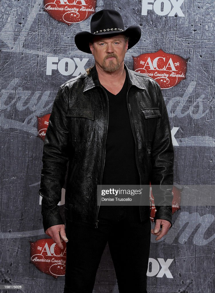 Singer Trace Adkins poses in the press room during the 2012 American Country Awards at the Mandalay Bay Events Center on December 10, 2012 in Las Vegas, Nevada.