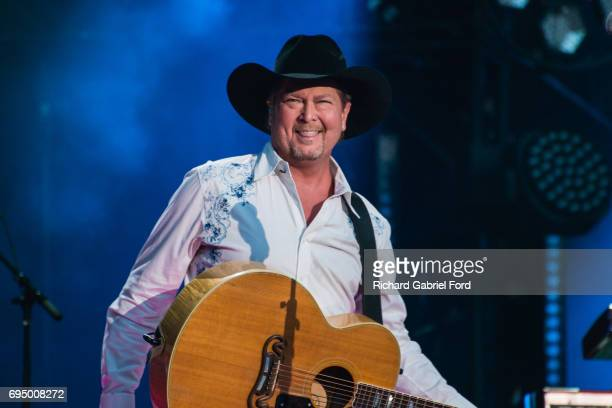 Singer Tracy Lawrence performs at Nissan Stadium during day 4 of the 2017 CMA Music Festival on June 11 2017 in Nashville Tennessee