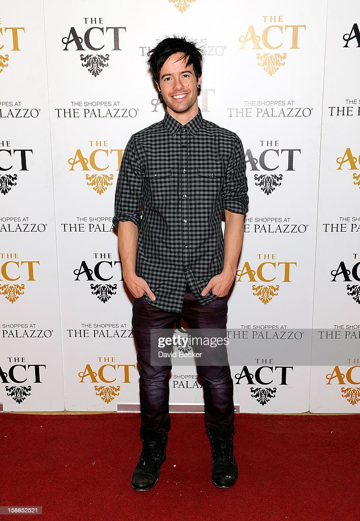 Singer Travis Garland arrives at the New Year's Eve celebration at The Act at The Palazzo on December 31, 2012 in Las Vegas, Nevada.