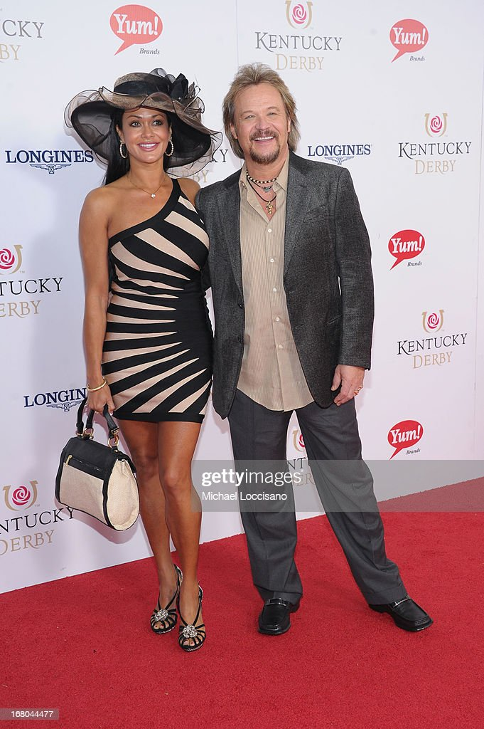 Singer Travis Tritt (R) and wife Theresa Nelson attend the 139th Kentucky Derby at Churchill Downs on May 4, 2013 in Louisville, Kentucky.