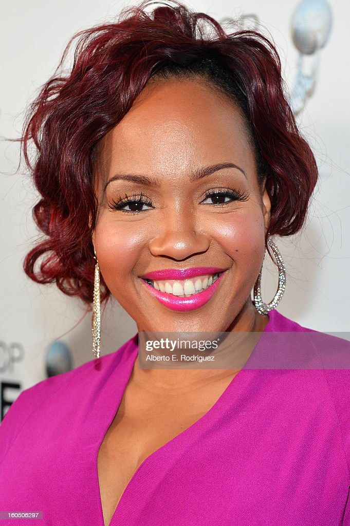 Singer Trecina 'Tina' AtkinsCampbell of Mary Mary attends the 44th NAACP Image Awards at The Shrine Auditorium on February 1 2013 in Los Angeles...