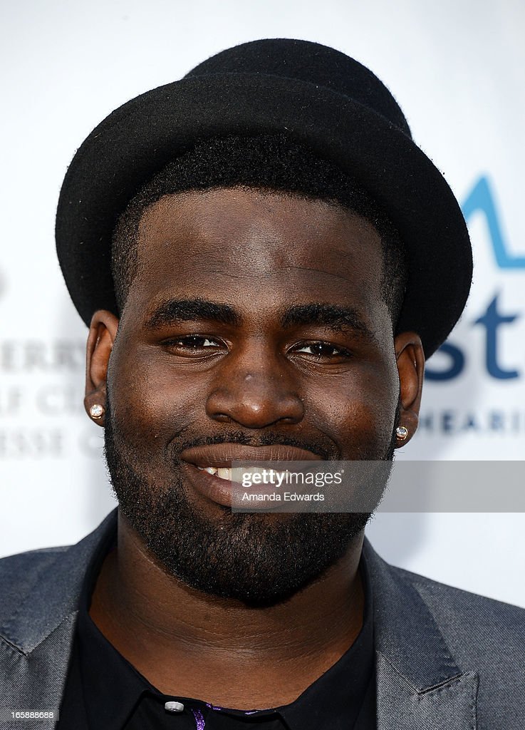 Singer Trevin Hunte arrives at the Jenesse Center's 2013 Silver Rose Gala & Auction at Vibiana on April 6, 2013 in Los Angeles, California.