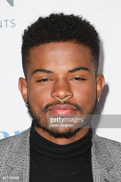 Singer Trevor Jackson arrives at the TrevorLIVE Los Angeles 2016 Fundraiser at The Beverly Hilton Hotel on December 4 2016 in Beverly Hills California