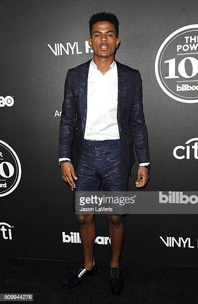 Singer Trevor Jackson attends the 2016 Billboard Power 100 celebration at Bouchon on February 12 2016 in Beverly Hills California