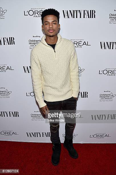Singer Trevor Jackson attends Vanity Fair L'Oreal Paris Hailee Steinfeld host DJ Night at Palihouse Holloway on February 26 2016 in West Hollywood...
