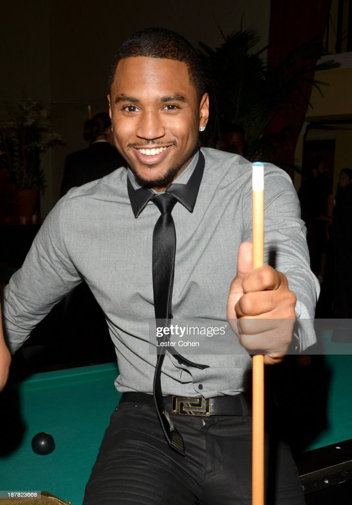 Singer <a gi-track='captionPersonalityLinkClicked' href=/galleries/search?phrase=Trey+Songz&family=editorial&specificpeople=674835 ng-click='$event.stopPropagation()'>Trey Songz</a> attends the GQ Men Of The Year Party at The Ebell Club of Los Angeles on November 12, 2013 in Los Angeles, California.