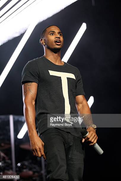 Singer Trey Songz performs at the United Center during the 'WGCIFM Summer Jam 2014' on June 22 2014 in Chicago Illinois