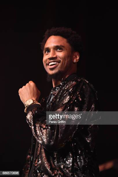 Singer Trey Songz performs in concert during 'Tremaine The Tour' at The Tabernacle on May 21 2017 in Atlanta Georgia
