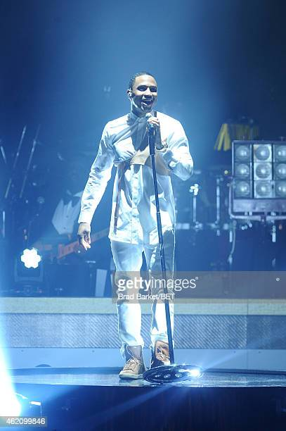 Singer Trey Songz performs onstage during 'The BET Honors' 2015 at Warner Theatre on January 24 2015 in Washington DC