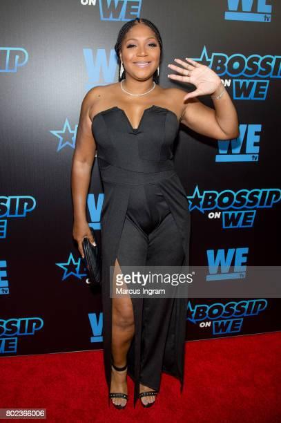 Singer Trina Braxton attends 'Bossip On WE' Atlanta launch celebration at Elevate at W Atlanta Midtown on June 27 2017 in Atlanta Georgia