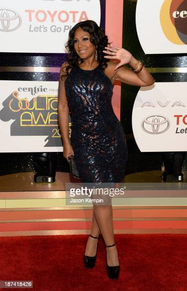 Singer Trina Braxton attends the Soul Train Awards 2013 at the Orleans Arena on November 8 2013 in Las Vegas Nevada
