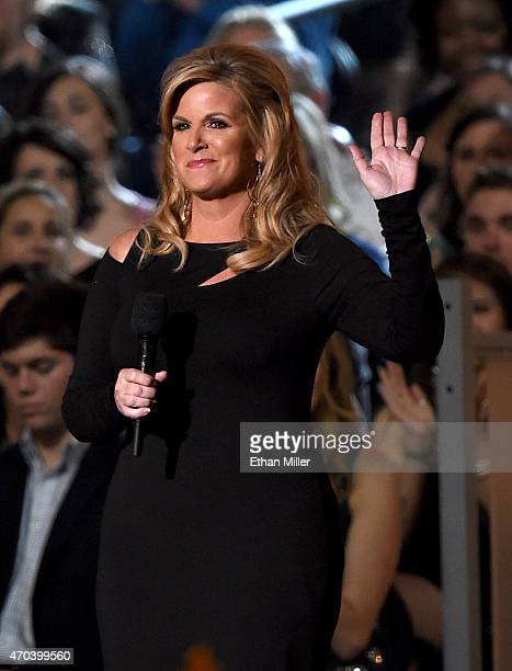 Singer Trisha Yearwood speaks onstage during the 50th Academy of Country Music Awards at ATT Stadium on April 19 2015 in Arlington Texas