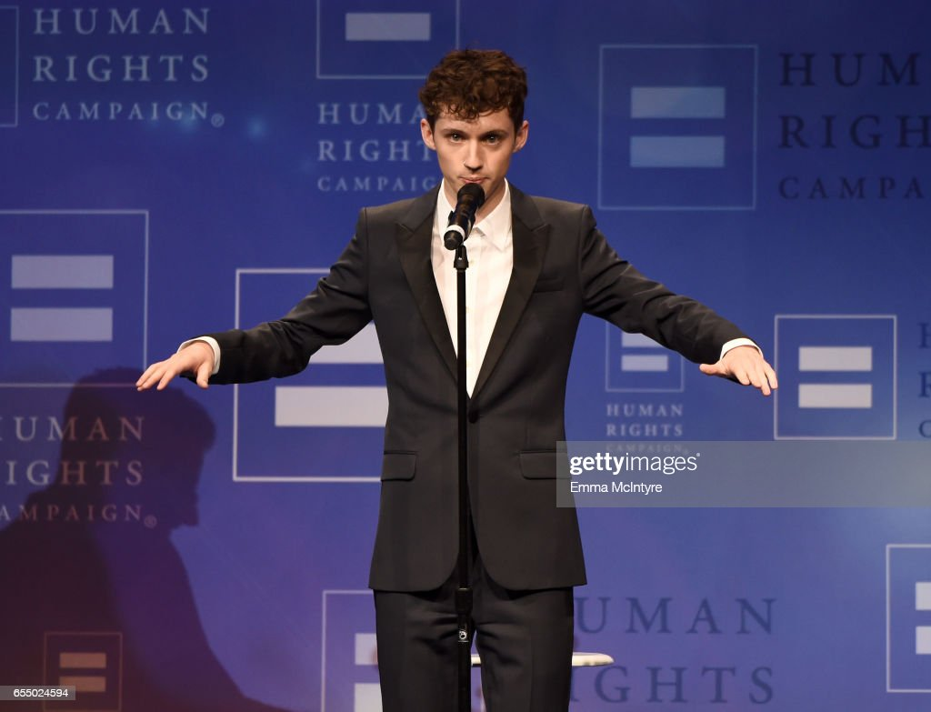 Singer Troye Sivan performs onstage at The Human Rights Campaign 2017 Los Angeles Gala Dinner at JW Marriott Los Angeles at L.A. LIVE on March 18, 2017 in Los Angeles, California.